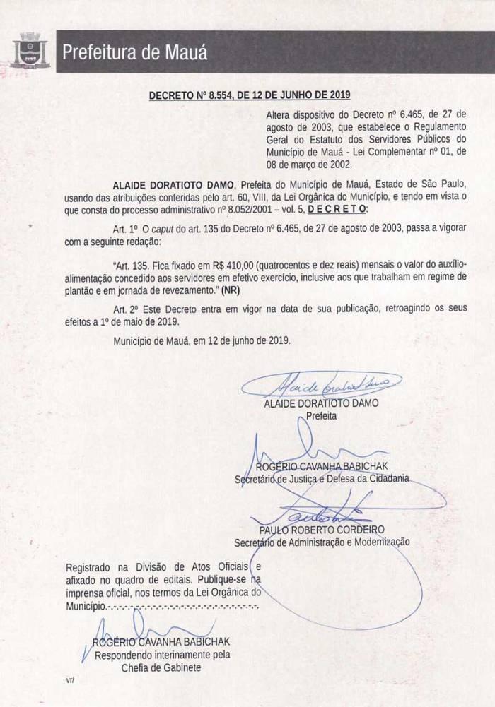 Decreto-8554